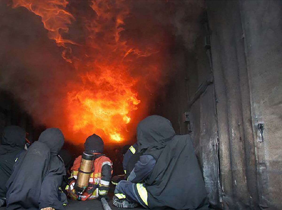 simulateur de feu reel pour formation incendie
