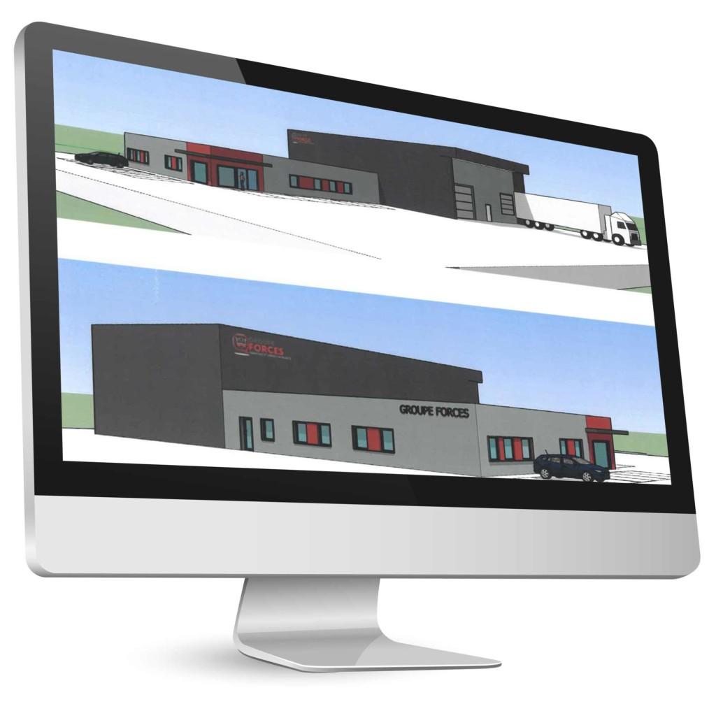 Nouveau bâtiment de formation sécurité à Besançon